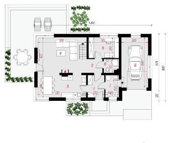 Проект  Дом в амариллисах 3, 137.7 м2