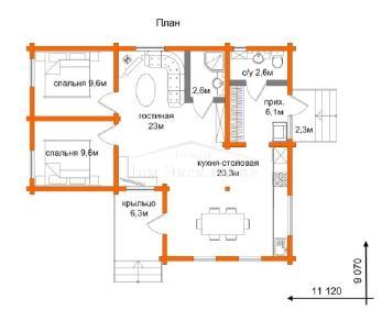 Проект дома Проект ДН-104, 96.3 м2