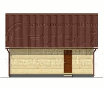 Проект дома Дачный дом 6х8 м (базовая комплектация), 48 м2