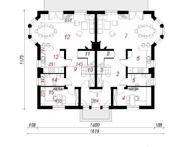 Проект  Дом под гинко 5, 257.7 м2