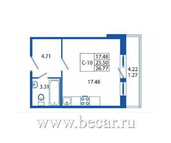 Продажа квартиры Мурино пос., Лаврики ш, д. 12, к. 1
