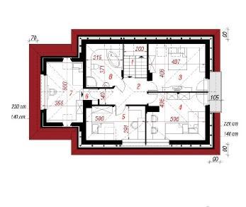 Проект  Дом в клеверках Г, 165.1 м2