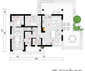 Проект  Дом в айдаредах 2, 175.9 м2