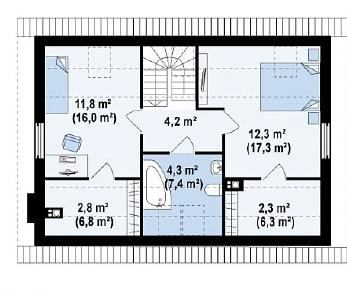 Проект дома Проект Z34, 116.7 м2