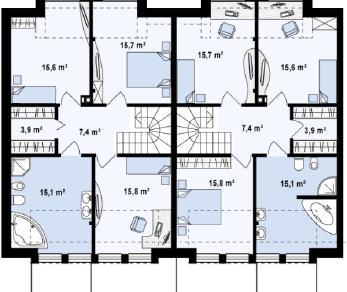 Проект дома Проект zb5, 155.1 м2