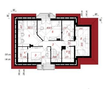 Проект  Дом в cенполиях 2, 163.8 м2