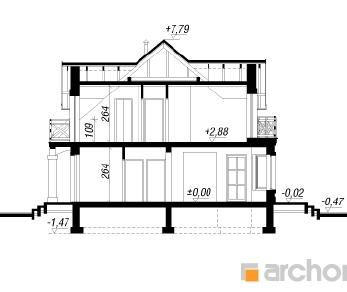Проект  Дом в cенполиях, 134.4 м2