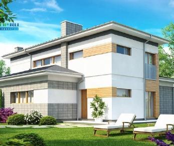 Проект дома Проект zx25, 157.7 м2