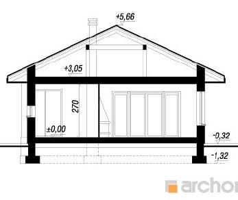 Проект  Дом под какао, 161.1 м2