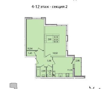 Продажа квартиры Янино-1, 7-я линия корпус 1