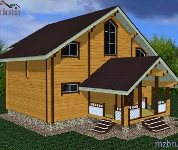 Проект дома Проект дома из клееного бруса «Ливерпуль», 174.21 м2