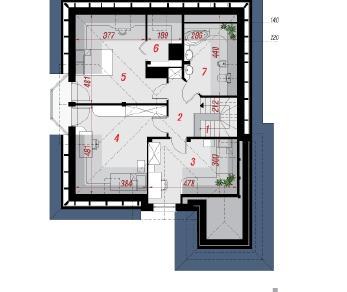 Проект  Дом в рукколе 2, 148.83 м2