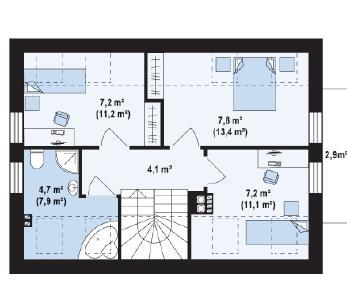 Проект дома Проект z216, 99.69 м2