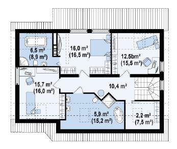 Проект дома Проект z68, 186.7 м2
