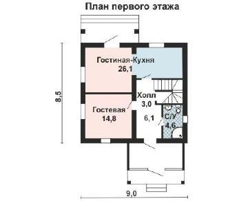 Проект дома AS-2075, 111 м2