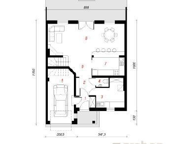 Проект  Дом в клематисах 3, 138.7 м2