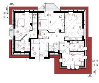 Проект  Дом в корице, 239.9 м2