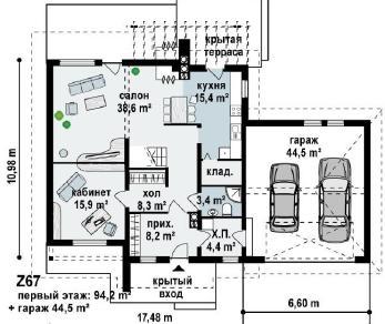 Проект дома Проект z67, 230.5 м2