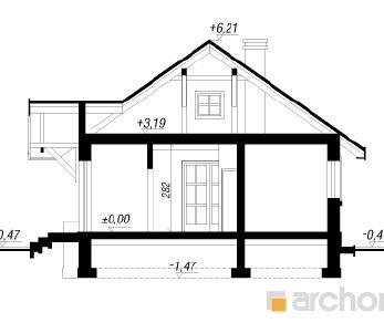 Проект  Дом в арнике, 84.8 м2