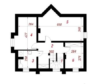 Проект  Дом в незабудках (П), 182.8 м2