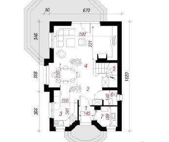 Проект  Дом в антоновке, 90.6 м2