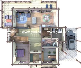 Проект дома Двухэтажный дом с крыльцом и террасой, 342 м2