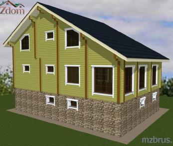 Проект дома Проект дома из клееного бруса «Сайгон», 324.25 м2