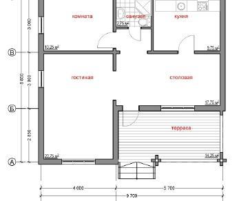 Проект дома Народный 9, 75.5 м2