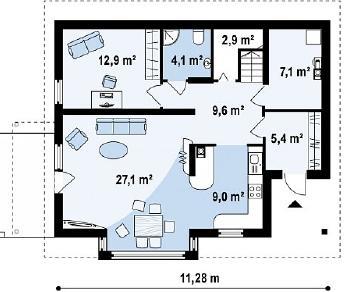 Проект дома Проект Z128, 157.2 м2