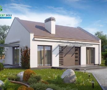 Проект дома Проект z252, 78.7 м2