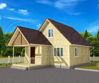 Проект дома Проект дома №27, 43.5 м2