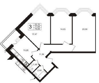 Продажа квартиры Кудрово, Австрийская ул., д.4к1
