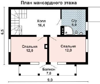 Проект дома AS-2256, 110 м2