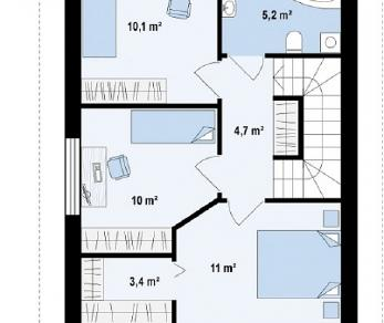 Проект дома Проект Z297, 93.7 м2