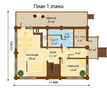 Проект дома Проект ДН-248, 247.74 м2