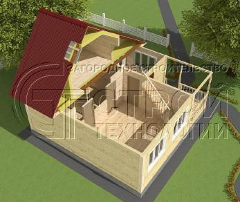 Проект дома Проект дома №16, 52.5 м2