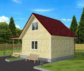 Проект дома Проект дома №43, 54 м2