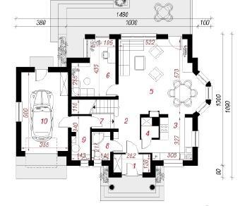 Проект  Дом под горной сосной 2, 183.9 м2