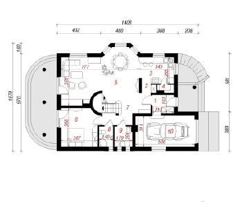 Проект  Дом в анисе, 172.5 м2