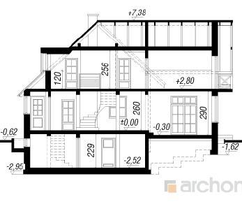 Проект  Дом на горке 3, 215.7 м2