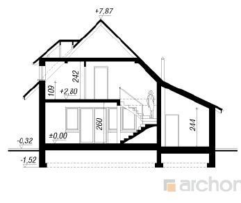 Проект  Дом на пригорке 3, 116.2 м2