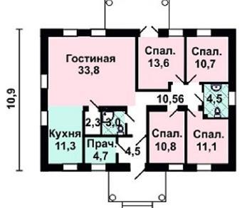 Проект дома AS-2182, 121 м2