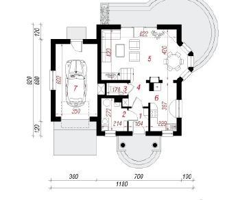 Проект  Дом в винограде 3, 120.5 м2