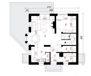 Проект  Дом в рододендронах (П), 159.6 м2