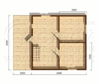 Проект дома Проект дома №30, 48 м2