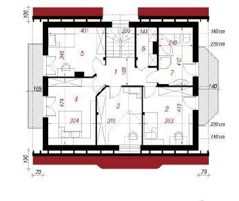 Проект  Дом под фисташковым деревом, 140.3 м2