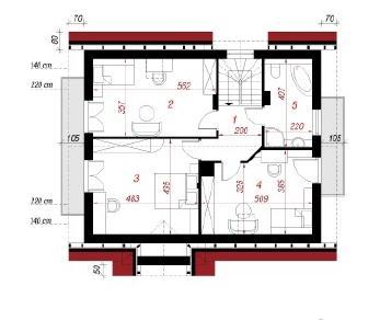 Проект  Дом в мандаринках, 129.3 м2