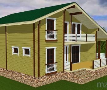 Проект дома Проект дома из клееного бруса «Дублин», 252.49 м2
