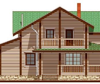 Проект дома Проект дома из клееного бруса «Парма», 260.47 м2