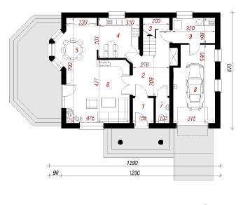 Проект  Дом в бархатцах 2, 151.9 м2